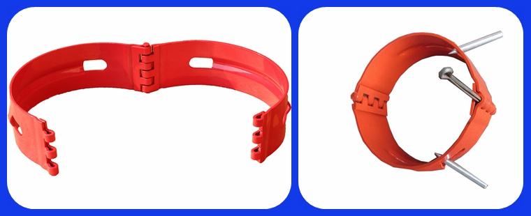Hinged Pipe Collars : Hinged bolted stop collar