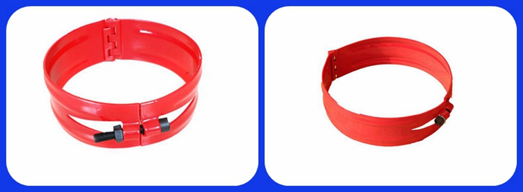 Hinged Pipe Collars : Hinged set screw stop collar